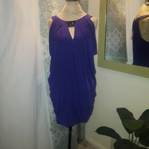 BCBG MAXAZRIA blue cocktail dress NWT
